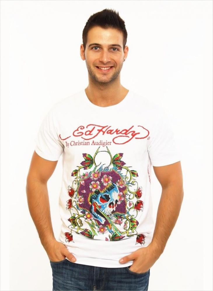 Rhinestone Skull T Shirt
