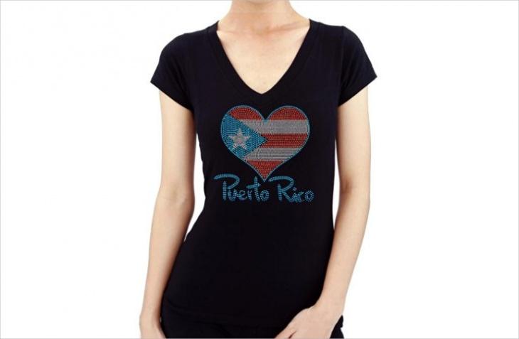 rhinestone heart t shirt