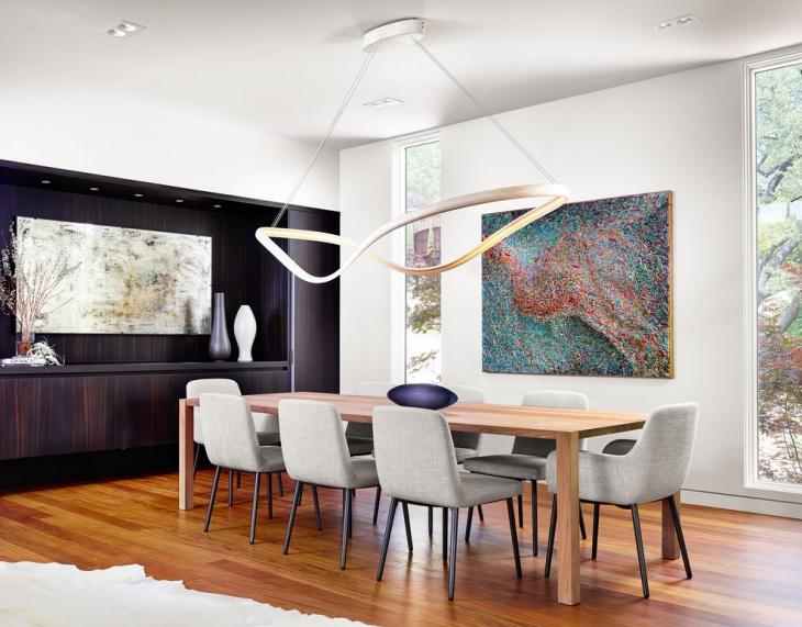 White Contemporary Dining Room Design