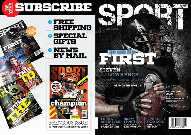 indesign sports magazine