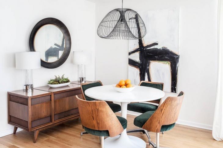 small contemporary dining room idea