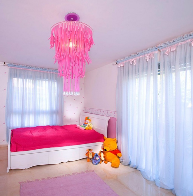 Pink Suspened Chandelier
