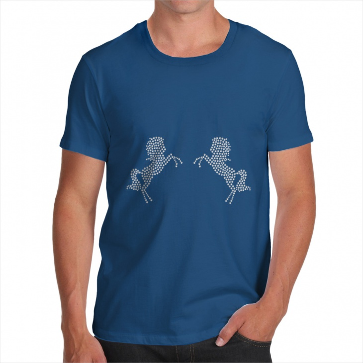 Unique Rhinestone T Shirt
