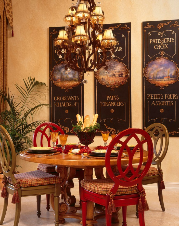 Eclectic Country Dining Room Design