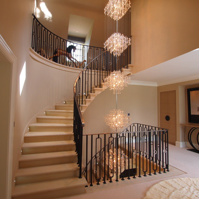 Colorful Staircase Designs 30 Ideas To Consider For A: 16+ Waterfall Chandelier Designs, Ideas