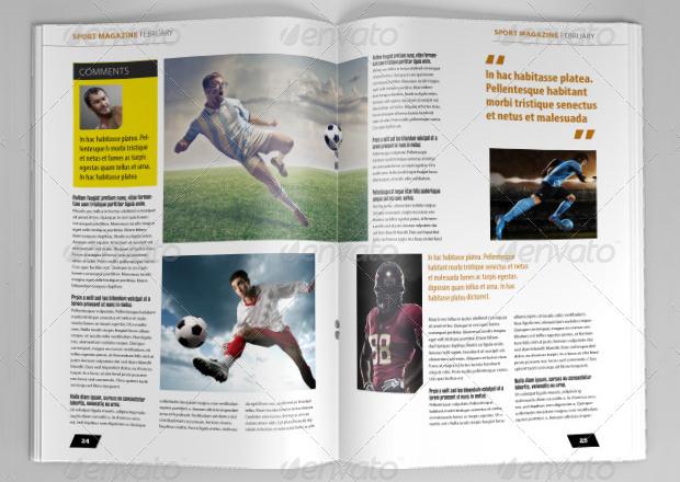 indesign sports magazine design