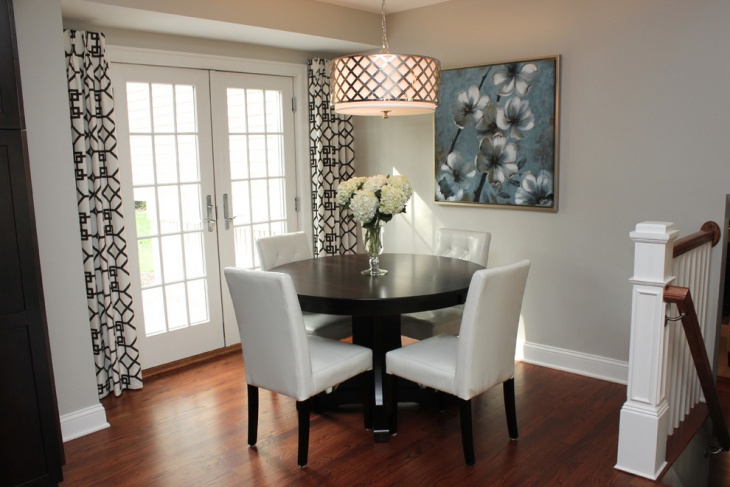 Small Grey Dining Room Design