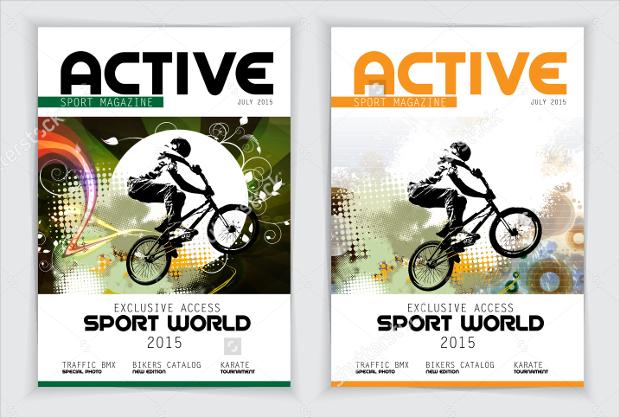 active sport magazine design