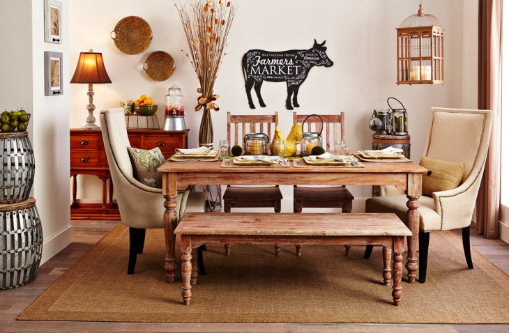 Vintage Rustic Dining Room Design