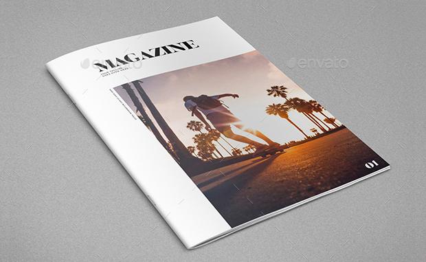 minimal photography magazine design