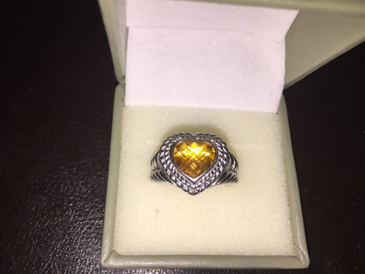 heart shaped citrine ring