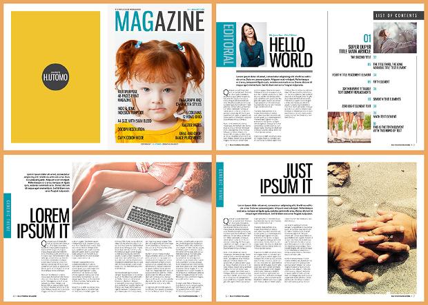 multipurpose indesign magazine design