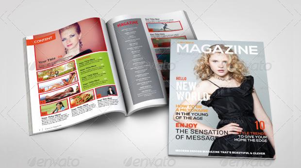 a5 multipurpose magazine design