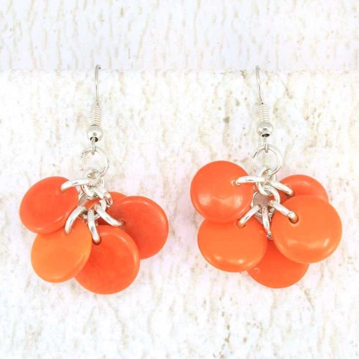 orange drop eco friendly earrings