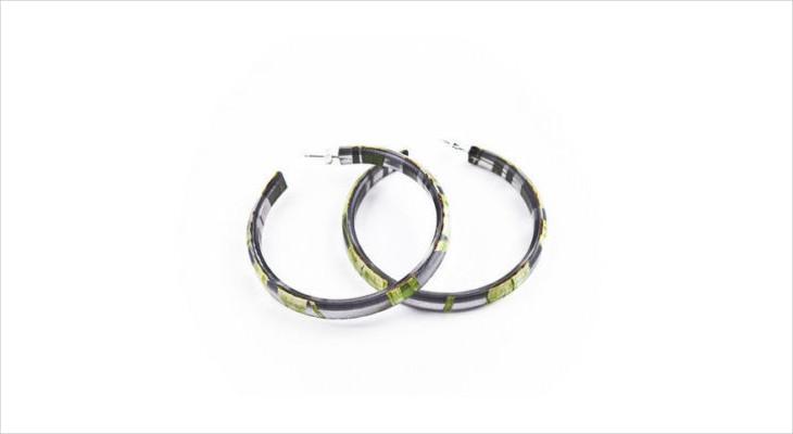 eco friendly hoop earrings