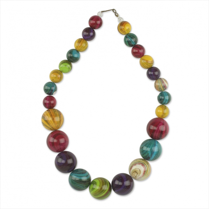 Plastic Beads Eco Friendly Necklace