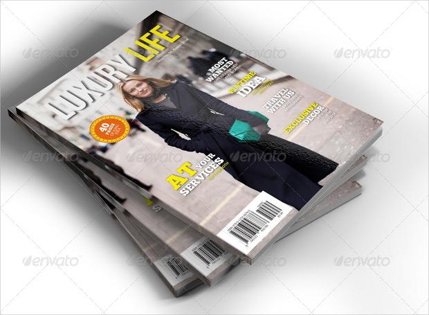 luxury lifestyle magazine design