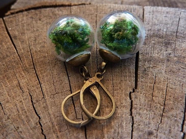 unique eco friendly dangle earrings