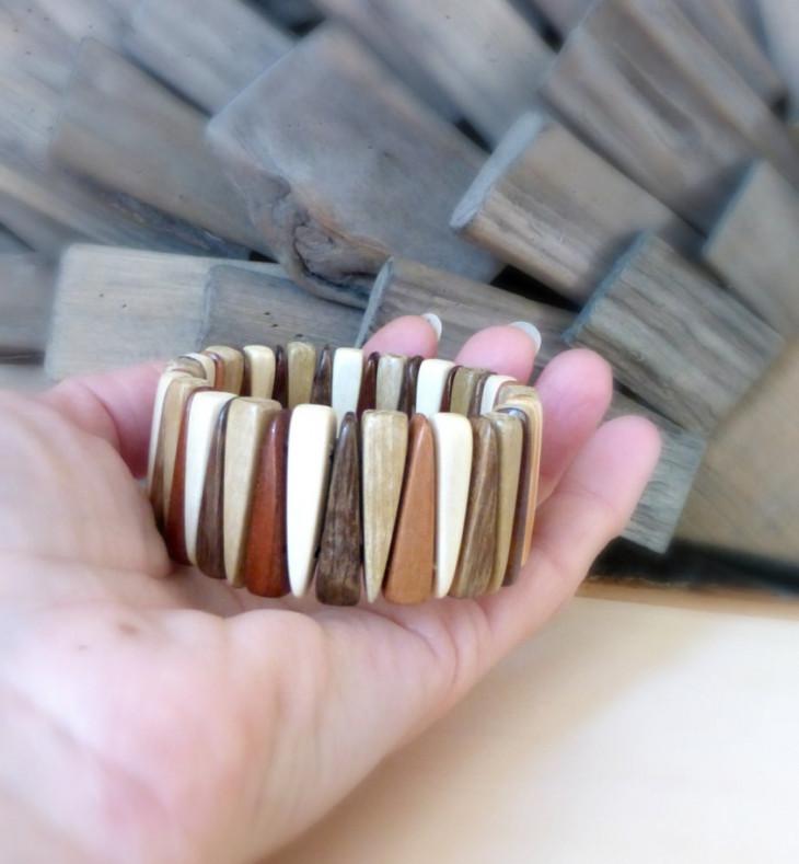 geometric eco friendly bracelet