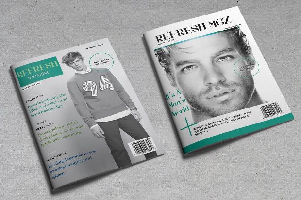 minimal lifestyle magazine design