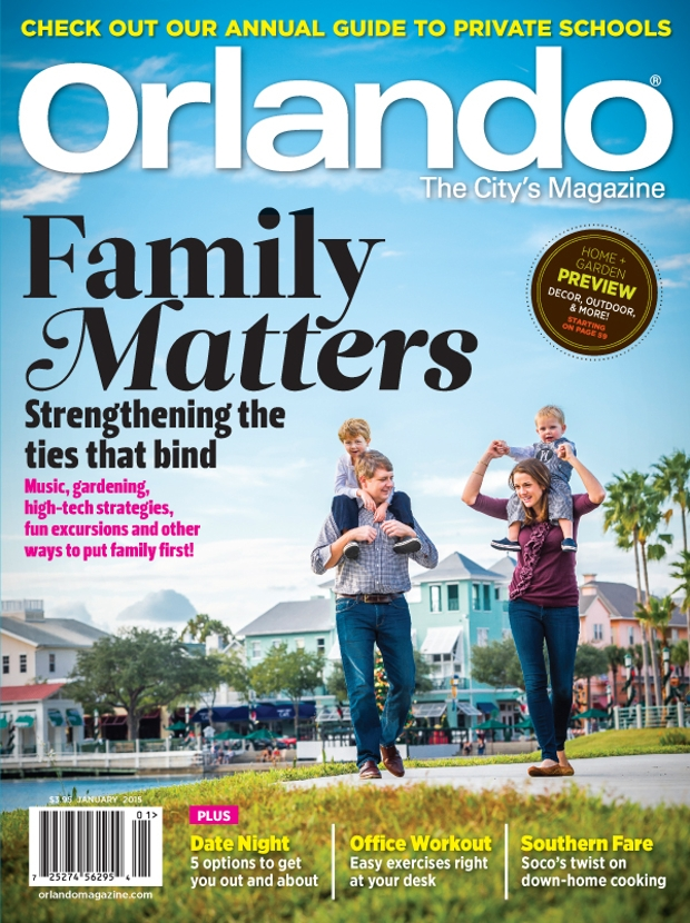 colorful family magazine design