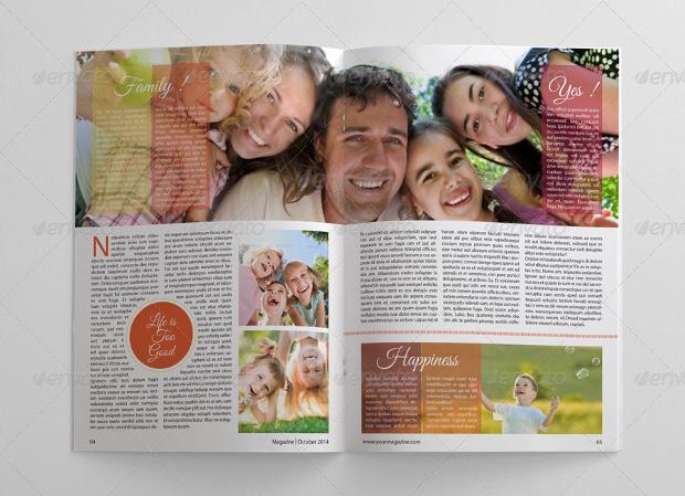 multipurpose family magazine design
