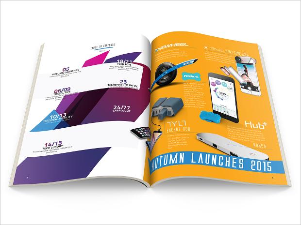 electronics gadgets magazine design