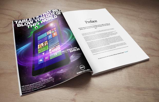 electronic marketing magazine design