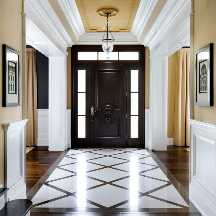 20+ Entryway Flooring Designs, Ideas | Design Trends ... on contemporary marble floor, white marble floor, shiny marble floor,