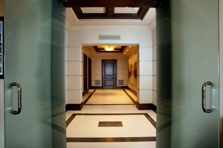Limestone Marble Entryway Floor Design
