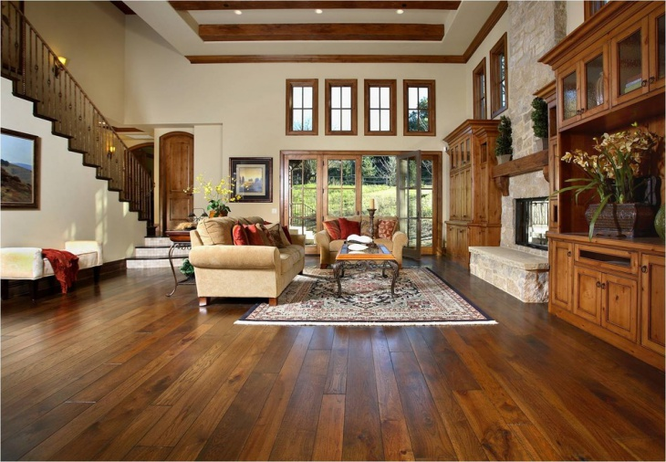Hardwood Entrance Flooring Idea