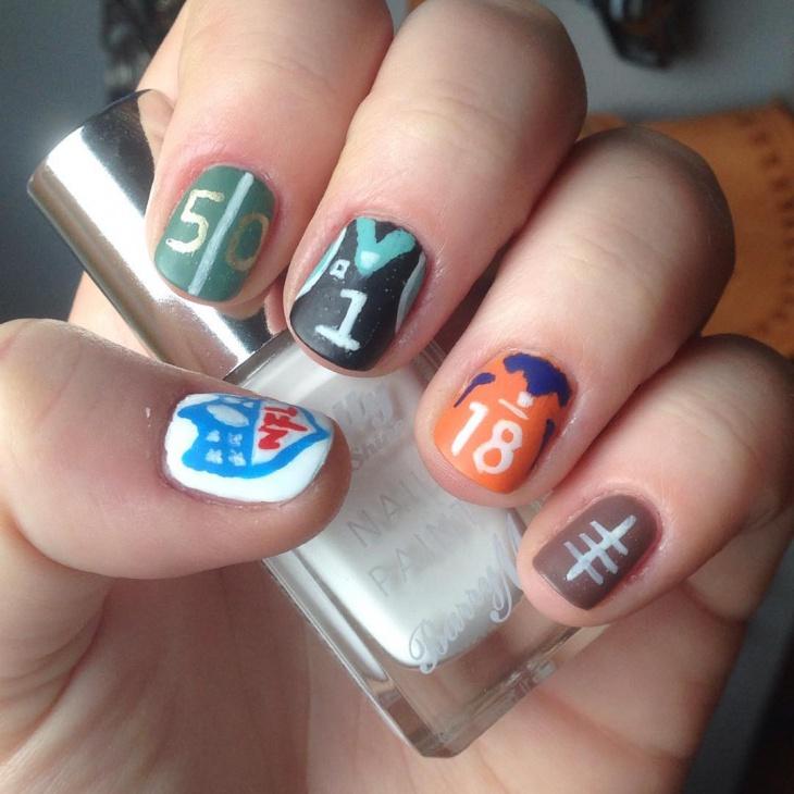 football round nail art