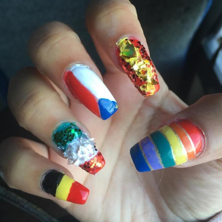 football long nail art