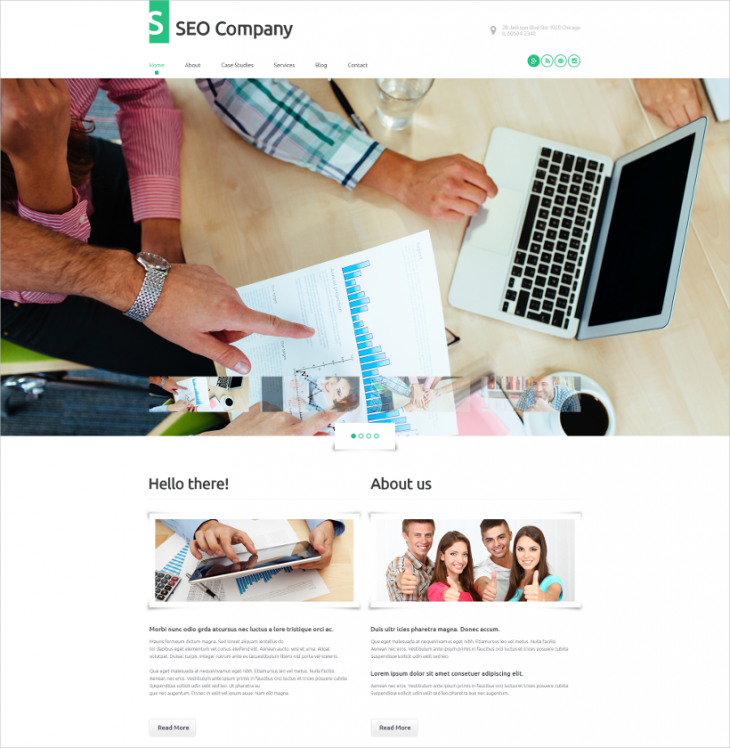 Responsive SEO Company WordPress Theme