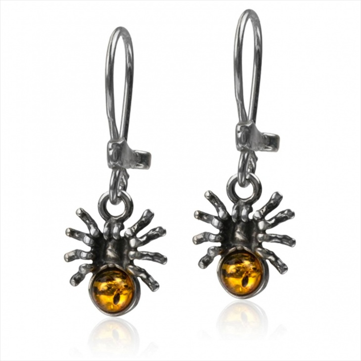 Amber Insect Earrings