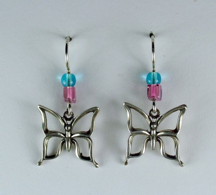 Sterling Silver Insect Earrings