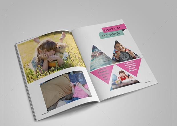 colorful kids magazine design