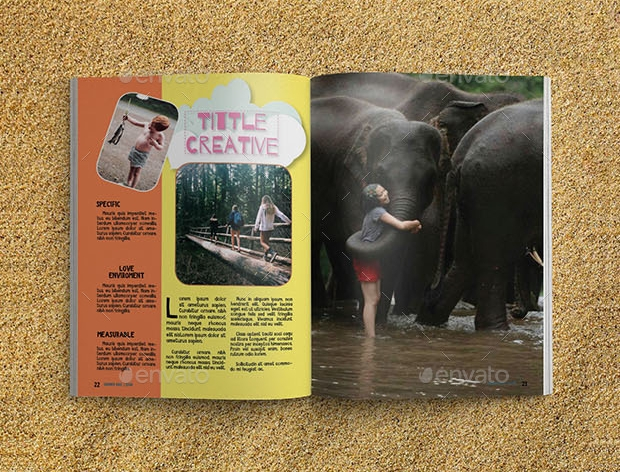 kids summer magazine design