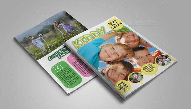 kids fun magazine design