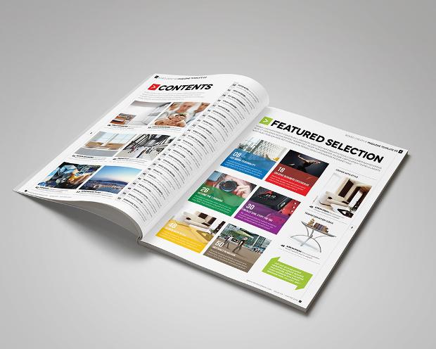 corporate professional magazine design
