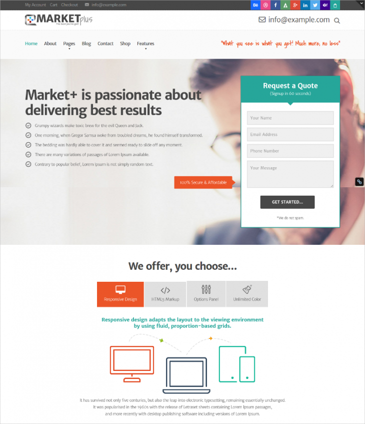 Marketing Responsive Theme