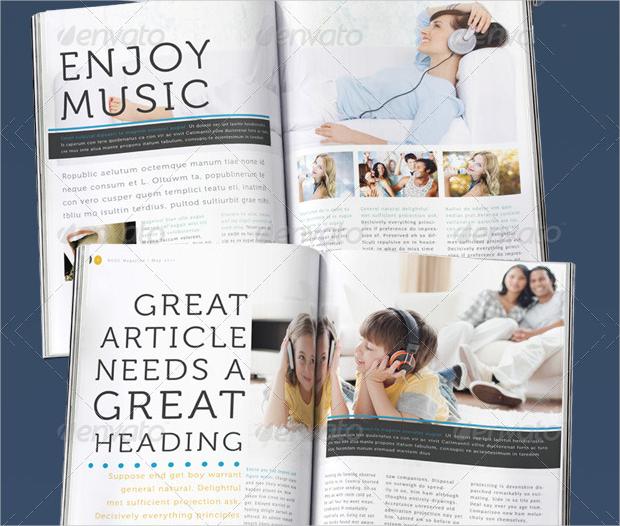 indesign music magazine template
