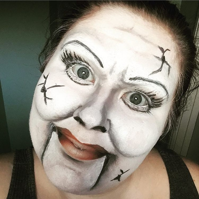 Broken Ventriloquist Makeup