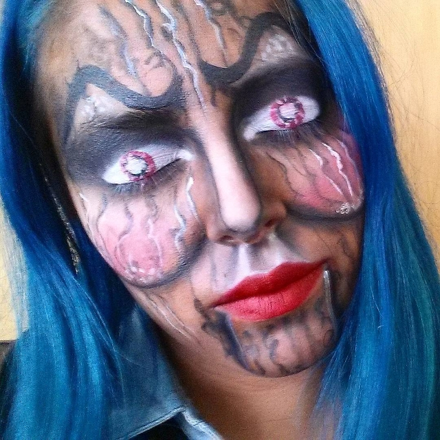 Scary Ventriloquist Makeup