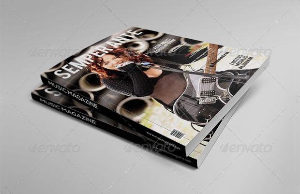 rock music magazine design