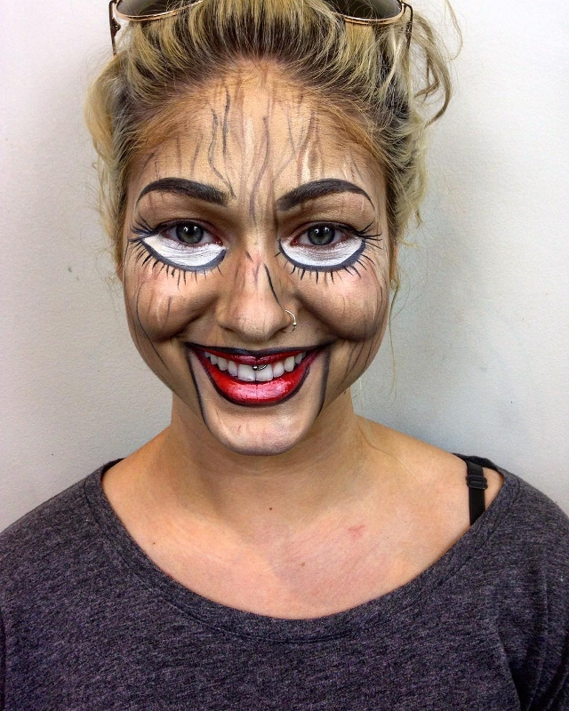 Wooden Ventriloquist Makeup