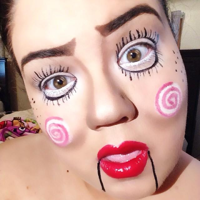 funny ventriloquist makeup