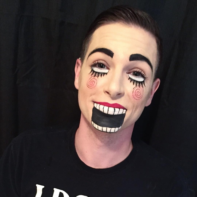 Ventriloquist Makeup for Men