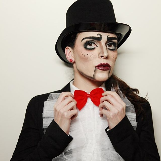 Ventriloquist Costume Makeup