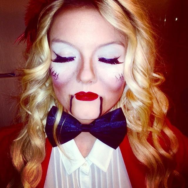 Vintage Ventriloquist Makeup